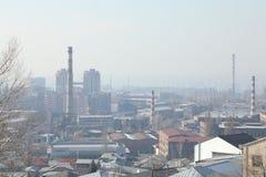 Fabbriche nella città fotografia stock libera da diritti