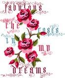 Fabelachtig de rozen in mijn dromenvector Stock Afbeeldingen