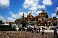 Fabelachtig Groot Paleis en Wat Phra Kaeo - Bangkok, Thailand Stock Foto