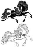 Fabelachtig paard Royalty-vrije Stock Afbeeldingen