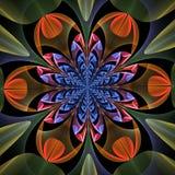 Fabelachtig symmetrisch patroon van de bladeren royalty-vrije illustratie