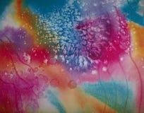 Fabelachtige Abstracte Waterverf tegen Januari royalty-vrije illustratie