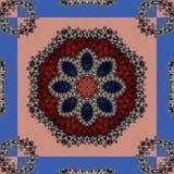 Fabelachtige fractal achtergrond met spiraal en bloemblaadjesornament u stock fotografie