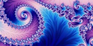 Fabelachtige horizontale abstracte achtergrond met Spiraalvormig Patroon u royalty-vrije illustratie