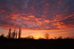 Fabelachtige zonsondergang Royalty-vrije Stock Afbeeldingen