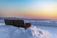 Fabelhafte Ansicht des Sonnenunterganghimmels stockfoto
