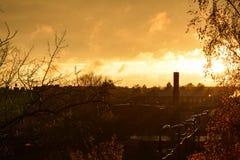 Fabelhafter Herbst und groß das Wetter stockfotos