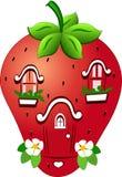 Fabelhaftes Erdbeerhaus Stockfotos