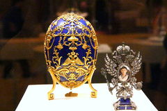 Faberge eggs выставка Стоковое фото RF
