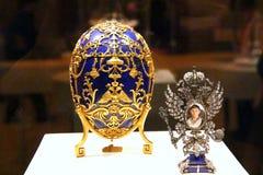 Faberge eggs a exposição Foto de Stock Royalty Free