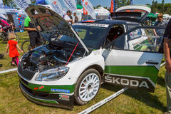 Fabia S2000 race car Royalty Free Stock Photography