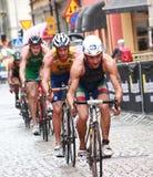 Fabian Alessandro som cyklar Royaltyfria Bilder