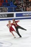 Fabian Bourzat and Nathalie Pechalat Stock Image