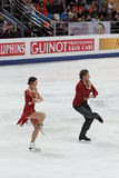 Fabian Bourzat and Nathalie Pechalat Royalty Free Stock Photo