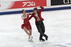 Fabian Bourzat and Nathalie Pechalat Royalty Free Stock Photography