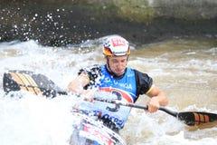 Fabian Doerfler - water slalom world championship Royalty Free Stock Photos