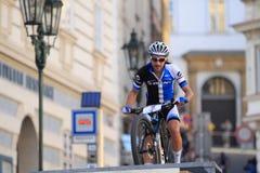 Fabian Giger - Prague Steps bike race 2014 Royalty Free Stock Photo