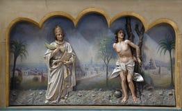 Fabian helgon och Sebastian Arkivbild