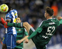 Fabian Ruiz of Real Betis. During a Spanish League match against RCD Espanyol at the Power8 stadium on March 3, 2016 in Barcelona, Spain royalty free stock images