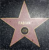 Fabian walk of fame star. Theater Stock Images