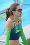 Fabiana Murer, Brazilian pole vaulter Stock Image