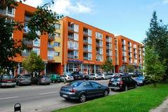 Fabijoniskes新住宅quartier与新房 库存图片