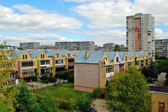 Fabijoniskes residential quartier with new houses Stock Image