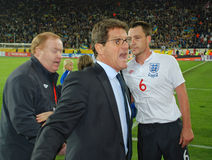 Fabio Capello scream Stock Images