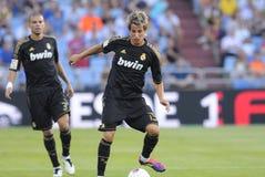 Fabio Coentrao & Pepe. Playing with Real Madrid Stock Photo
