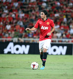 Fabio Da silva of Man Utd. Royalty Free Stock Photo
