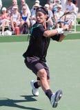 Fabio Fognini bij 2010 BNP Open Paribas Stock Afbeeldingen