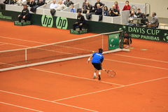 Fabio Fognini contro Dodig Fotografia Stock
