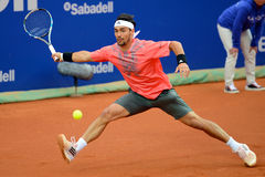Fabio Fognini (tennis player from Italy) plays at the ATP Barcelona Royalty Free Stock Photo