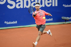 Fabio Fognini (tennis player from Italy) plays at the ATP Barcelona Stock Photos