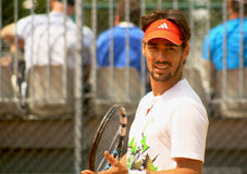 Fabio Fognini training at Roland Garros 2012 Stock Images