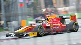 Fabio Leimer участвуя в гонке в Сингапур GP2 2012 Стоковые Фотографии RF