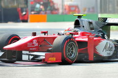 Fabio Onidi racing in Singapore GP2 2012 Stock Images
