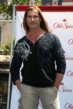 Fabio at a public appearance to promote the Epic Old Spice Challenge. LOS ANGELES - JUL 28:  Fabio at a public appearance to promote the Epic Old Spice Challenge Stock Photo