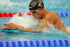 Fabio Scozzoli. In action - LEN Budapest 2010 Swimming Championships breaststroke Stock Photos