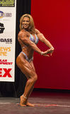 Fabiola Boulanger. Fabulous Fabiola Boulanger, from Quebec, Canada, displays her formidable athletic form in a third-place performance at the 2014 IFBB New York Stock Photo