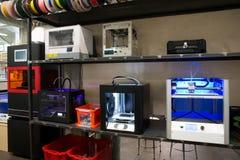 Fablab e impressão 3D Foto de Stock Royalty Free