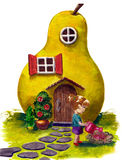Fable house. House looks like a pear stock illustration