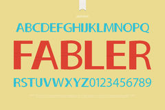 Fabler. Origami style alphabet letters and numbers over paper texture. vector font type design. bold lettering. comic book typesetting. folded paper typeface Stock Photo