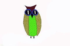 Fabolous owi.Illustration. Beautiful fairy owi.Childrens illustration Royalty Free Stock Images