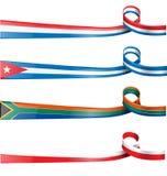 Faborek flaga set Fotografia Stock