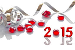 2015, faborek i boże narodzenie dekoracje, Obraz Royalty Free