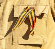 Faborek St George na wojskowym uniformu fotografia stock