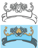 Faborek z chmielu ornamentem Zdjęcia Royalty Free