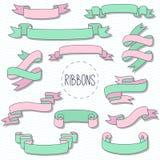 Faborki doodle dekoracyjnego elementu wektoru set Zdjęcia Royalty Free