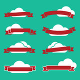 Faborki i chmury Zdjęcia Royalty Free